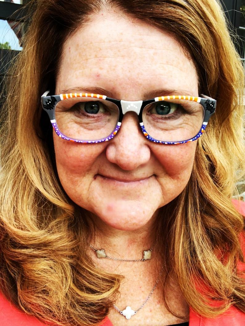 reading glasses, halloween reading glasses for her, Halloween accessories, Halloween eyewear, fun glasses frames, eyewear for her