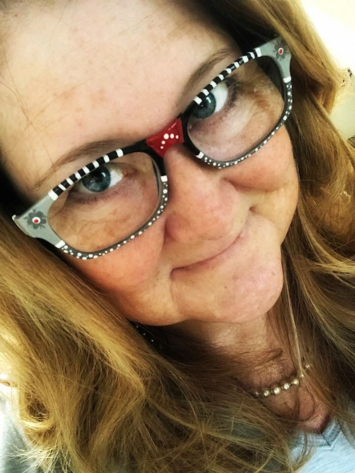 73a6f59f21 Reading Glasses Painted Black and White