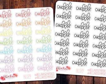 planner stickers small stickers Cuddle Buddy waterproof sticker pack