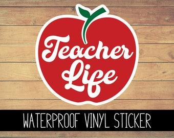 Teacher Life Vinyl Waterproof Sticker, Yeti Decal, Teacher, Car Decal, Laptop Decal, Window Decal, Custom Decal, School Sticker, Teacher