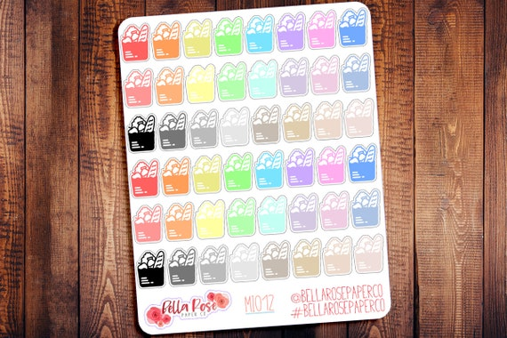groceries mini icon planner stickers food planner stickers etsy