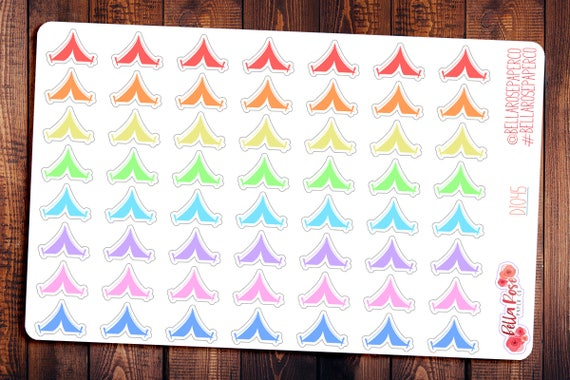 tent camping trip planner stickers camping travel sticker etsy