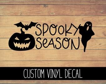 Spooky Season Vinyl Decal, Yeti Decal, Fall Decal, Vinyl Car Decal, Laptop Decal, Window Decal, Decal, Custom Decal Gift Under 10, Halloween