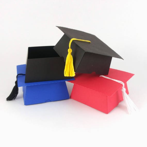 Custom Graduation Cap Favor Box - College Graduation - High School  Graduation - Kindergarten Graduation Party - Grad Party Ideas - Set of 5
