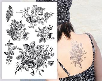flower tattoos etsy