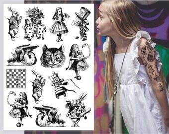 Alice Tattoo Etsy