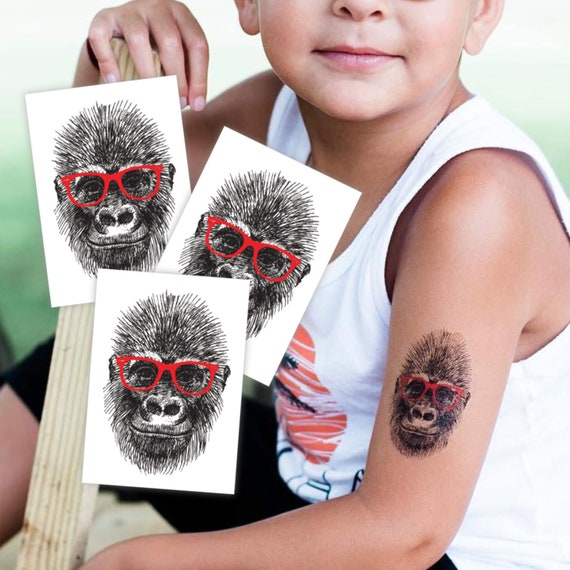 Set of 3 temporary tattoos \