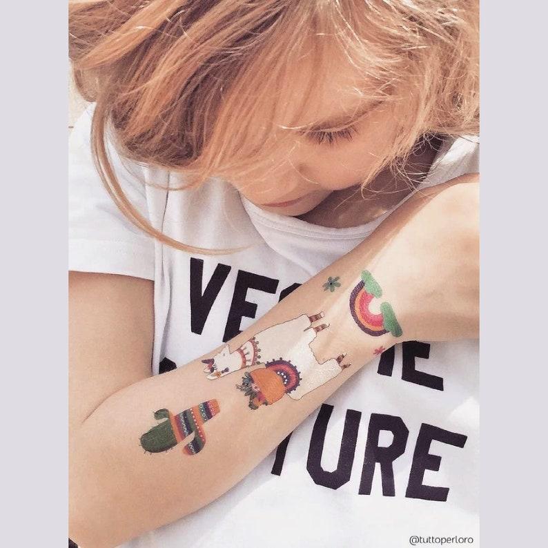 23. Llamacorns temporary tattoo transfers