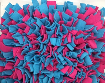 Purple Hot Pink Paw Print Polka Washable Snuffle Mat Pet Nose Work Foraging Pick Your Size