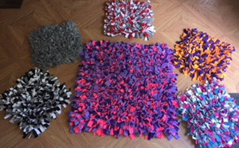 Easy To Store Roll-Up YellowBlack Snuffle Mat Pet Nose Work Foraging Pick Your Size Choose Your Size