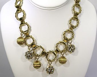 Vintage Gold and Diamond Charm Necklace