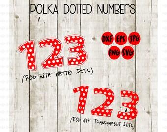 POLKA DOTTED NUMBERS, svg font, Polka Dotted Symbols, Teacher Font, Cut File, Dotted Monogram, Disney Monogram, Disney svg, Instant Download