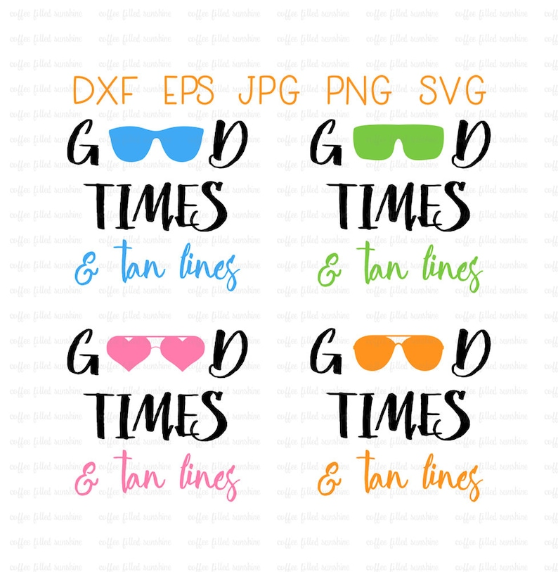 581770b985 GOOD TIME and TAN Lines Beach Sunglasses Vector Clipart svg