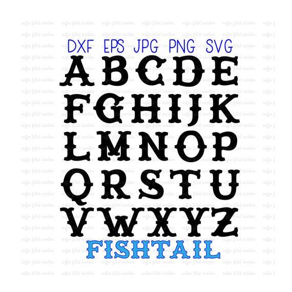 fishtail carnival alphabet fishtail letters carnival etsy