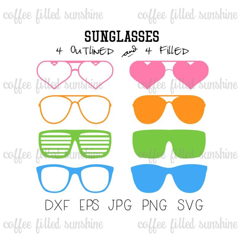 95d0ab244e SUNGLASSES SVG Digital Cut File Beach Sunglasses Heart