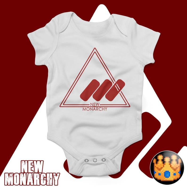 Gamer Baby Geeky Onesuit New Monarchy Destiny Bodysuit Nerdy Onepiece