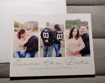 Save the Dates/ Two sized Save the Date/Save the Date Cards