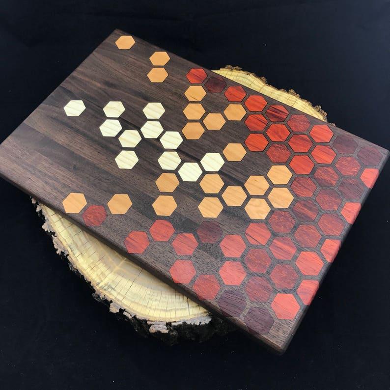 Handmade kitchen cookware Chopping Block Pennsylvania made Serving Board Bar Cutting Board Paduak Ash and Walnut Cutting Board