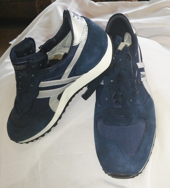 JOX Zip up Boys womens navy blue tennis shoes.Silver  bd82696b1a