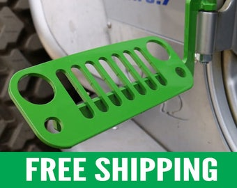 Jeep Foot Pegs for JK Wrangler | Green Pair