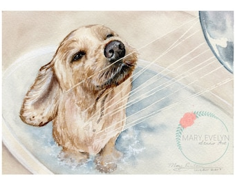 "5"" x 7"" Custom Watercolor Pet Portraits"