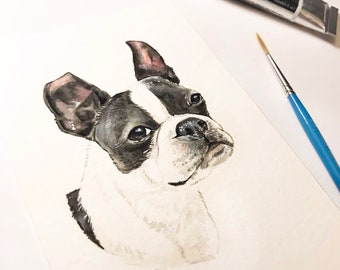 "4""x6"" Original Custom Pen and Ink Pet Portrait Illustration"