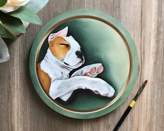 "8"" Original Acrylic on Wood Panel Pet Portrait"