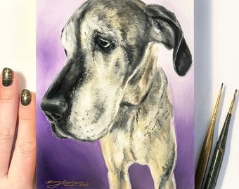 "5""x7"" Custom Oil Pet Portrait"