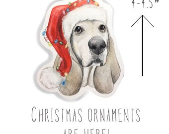 Whimsical Custom Watercolor Pet Portrait Ornament