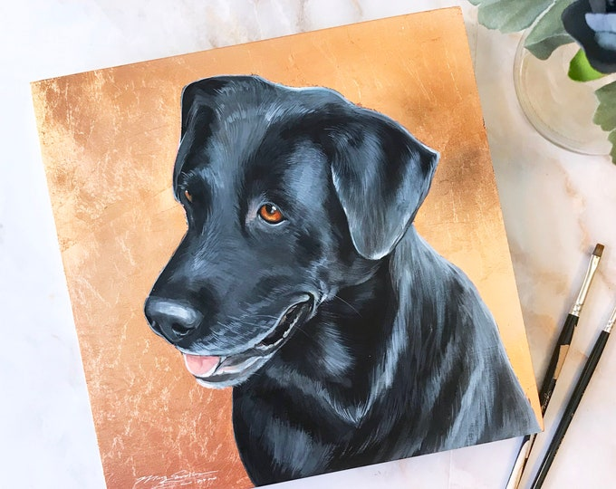 Featured listing image: Custom Acrylic Pet Portrait