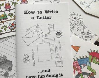 bundle--How To Write A Letter: an illustrated booklet about writing letters--packaged with a random assortment of cards and stationery