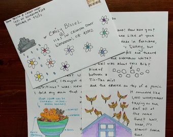 Kids' Customized Letter Subscription: 5 handwritten & illustrated snail mail letters just for them