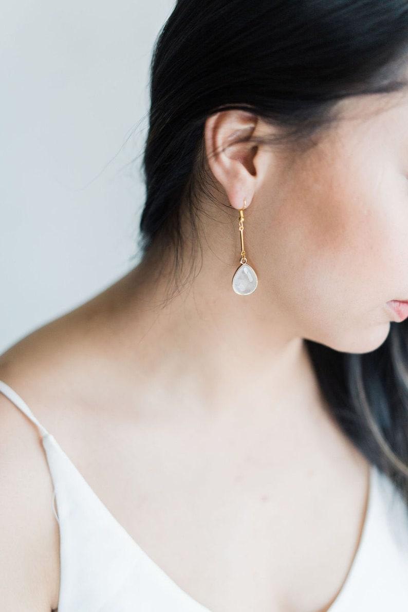 Clear Quartz / Cherry Quartz / Black Agate Statement Jewellery image 0
