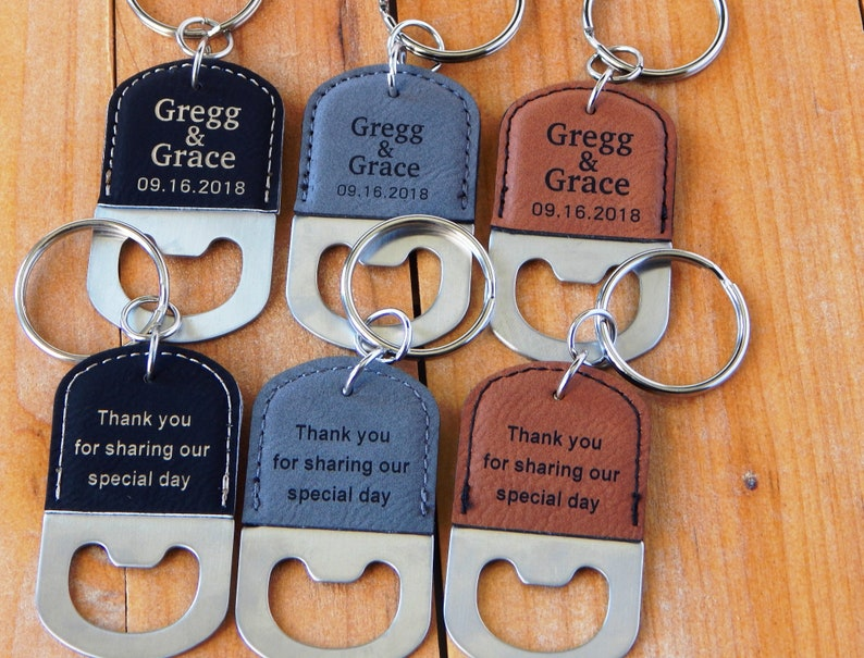 Bulk Wedding Favors - Bottle Opener Favor - Personalized Gift for Guests -  Bridal Shower Gifts - Thank you Key chains