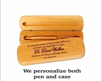 Gift for Mentor - Gifts for College Teacher - A truly great Mentor is hard to find - Mentor Thank you Wooden Pen