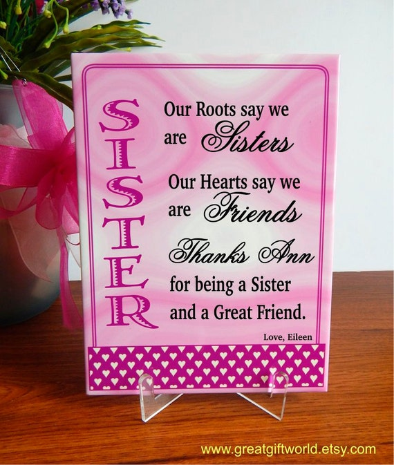 Sister Gift Gifts For Twin Sisters Personalized Birthday