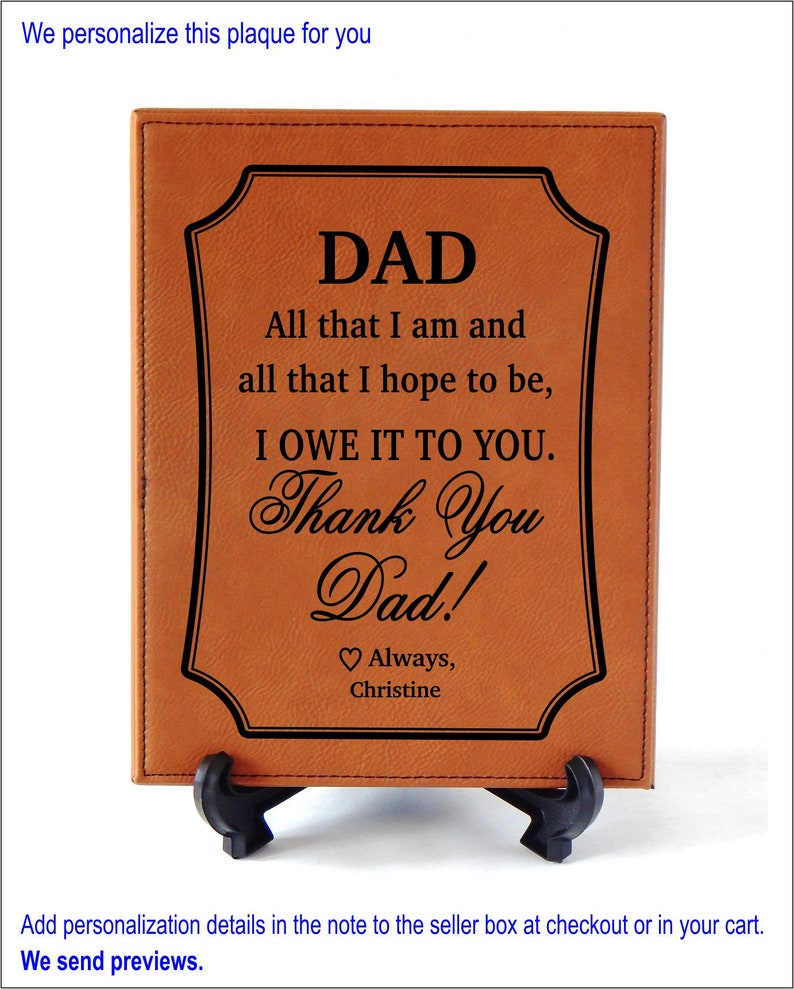 6b189696c870d Thank You Dad Wedding Gift Gifts for Christmas from Son