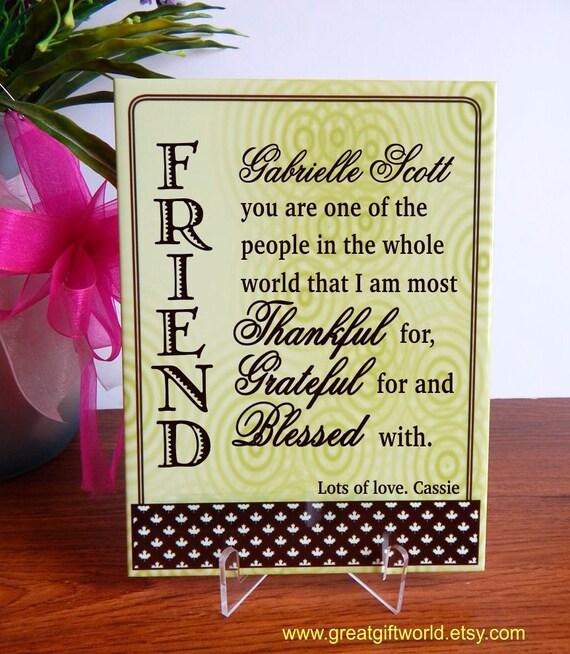 Cadeau de remerciement pour une amie