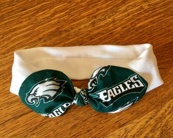 Philadelphia Eagles Stretch Cheer Headband. Baby Headband. Baby Bow.  Football. NFL Football Knit Headband. Eagles Hair Accessory. Gift db4919ccc82