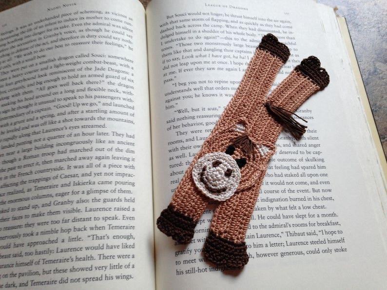 Cute animal bookmark horse bookmark handmade crochet etsy