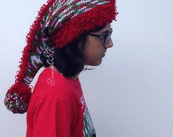 This is beautiful christmas hat,santa hat,knit hat,unique desing,and hand made,and christmas gift
