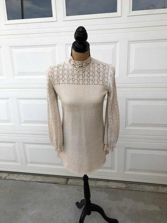 Vintage 1960s two piece knit set sweater and pant… - image 2