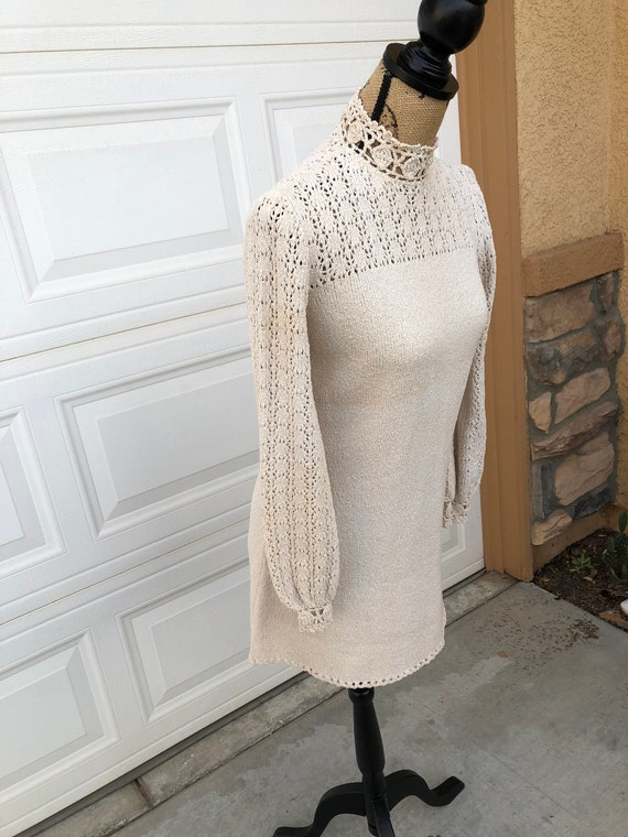 Vintage 1960s two piece knit set sweater and pant… - image 3