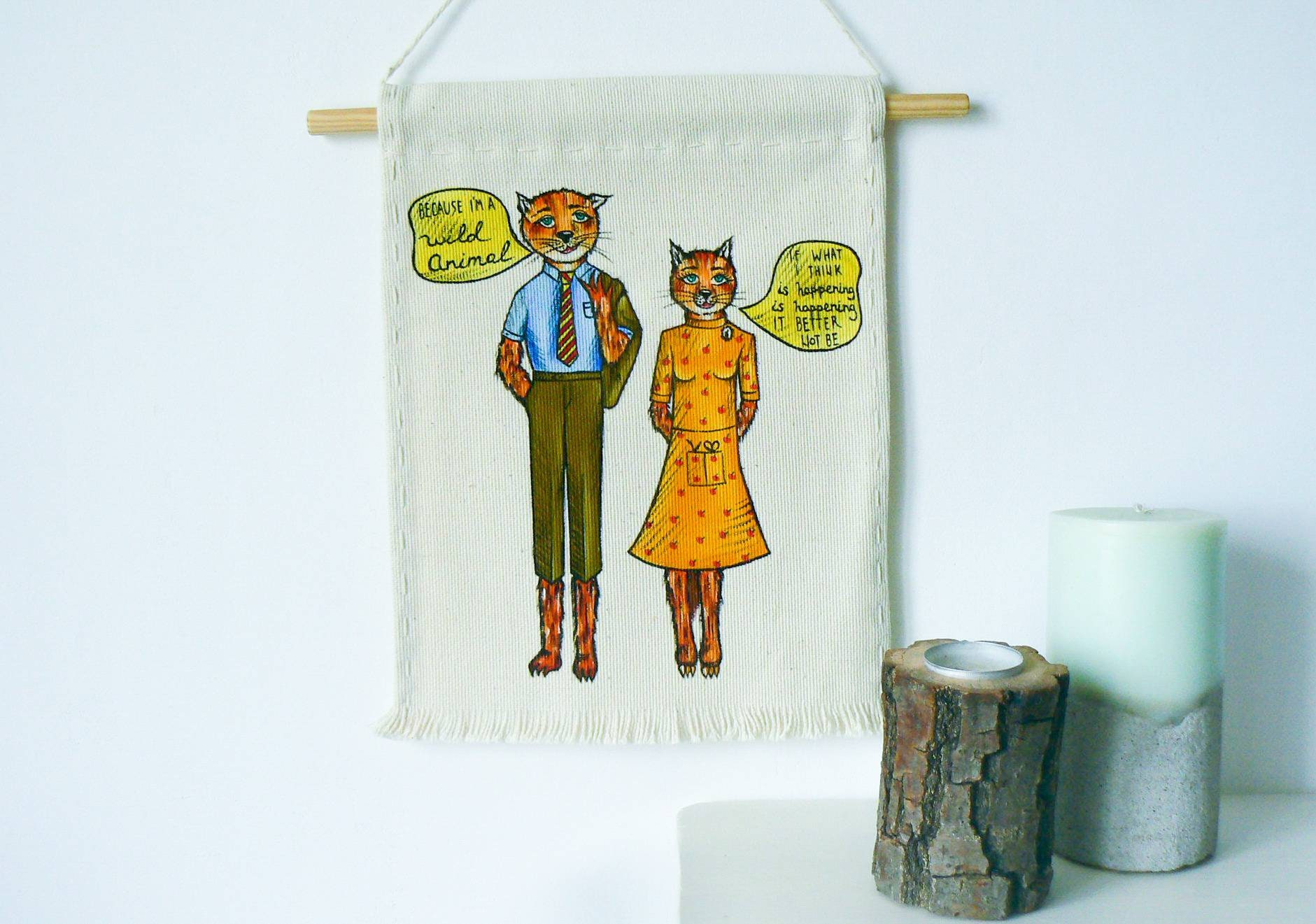 Fantastic Mr Fox Art Poster Wall Decor Cool Boyfriend Gift Fox Etsy
