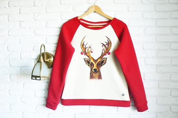 f62ada3c7f2e Christmas Sweater for Women Reindeer Sweater Womens Christmas
