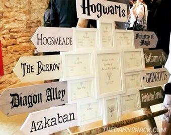 Story Book and Movie / Film Signpost Slats, Wedding Table Names, Garden, Nursery, Playroom