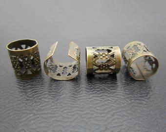 20pcs Antique Brass dreadlock Beads dread hair braid accessories dread Beads jewelry adjustable cuffs tube clip 7.5mm hole