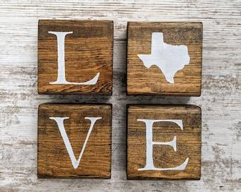 Texas Home Sign. Texas Home Decor. Texas Home Poster. Texas Blocks. Texas Wall Art. Texas Longhorns. Texas Gift
