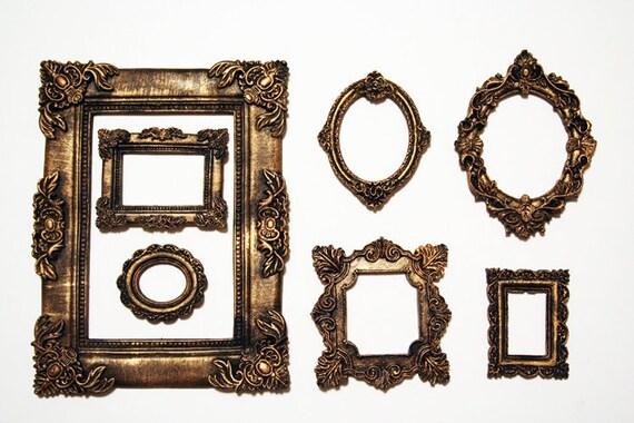 Vintage photo frame Gothic Photo Frame Set of 7 Decorative | Etsy