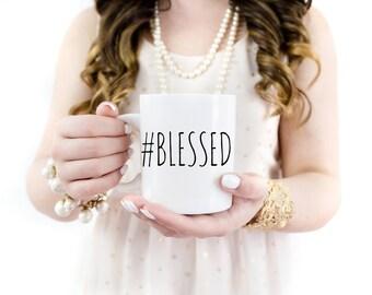 Hashtag Blessed Mug | Blessed | Coffee Mugs | Tea Mugs | Hashtag Blessed | Blessed Mug | Faith | Christian Gifts | Gratitude